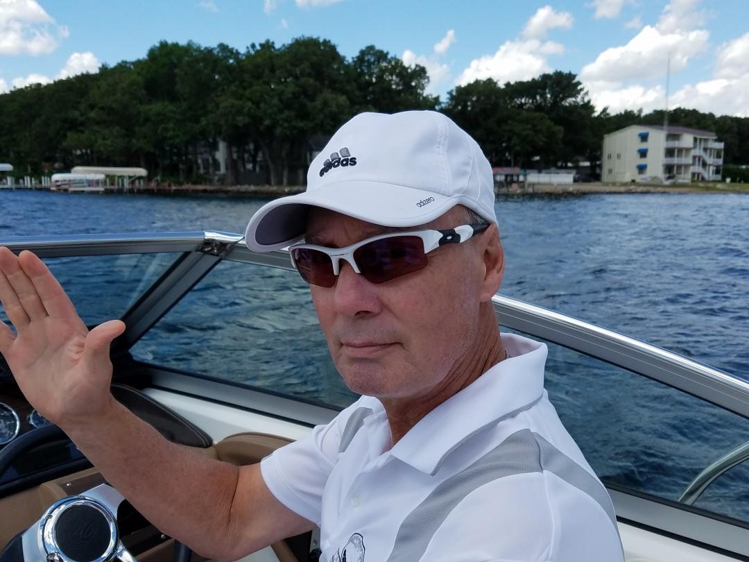 Captain of the boat ride on Lake Okoboji
