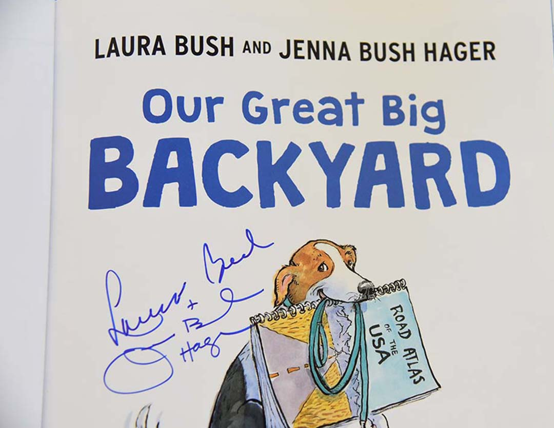 The Texas Book Festival Our Great Big Backyard Laura Bush and Jenna Bush Hager