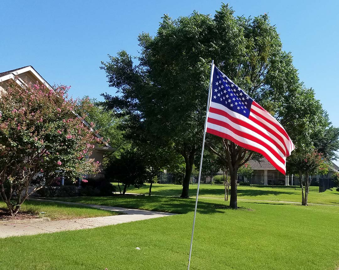 Happy 4th of July - American flag in our yard