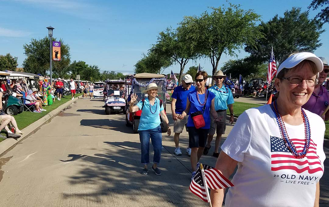 Happy 4th of July - hundreds of people lined the parade route
