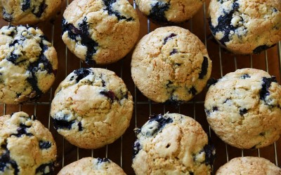 Jen's Blueberry Sunflower Seed Muffins