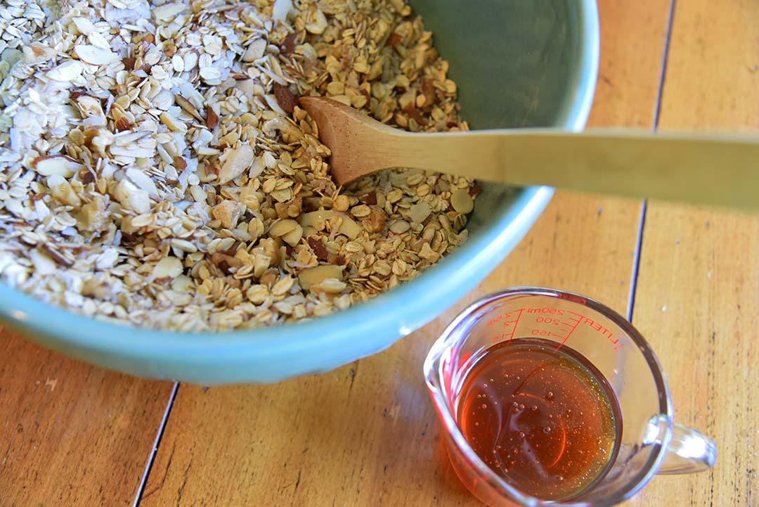 Tara's Homemade Granola - add wet ingredients