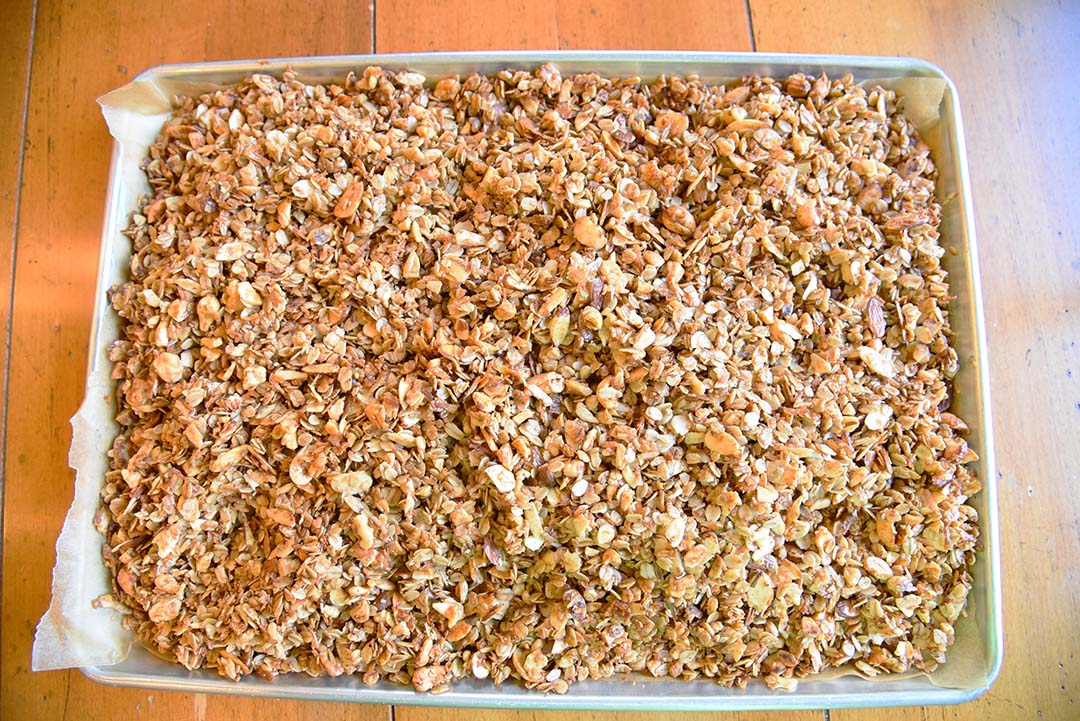 Tara's Homemade Granola - bake till golden brown