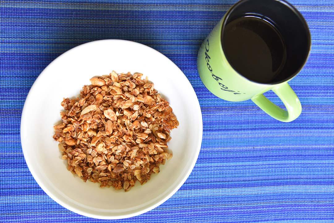 Tara's Homemade Granola - coffee and granola
