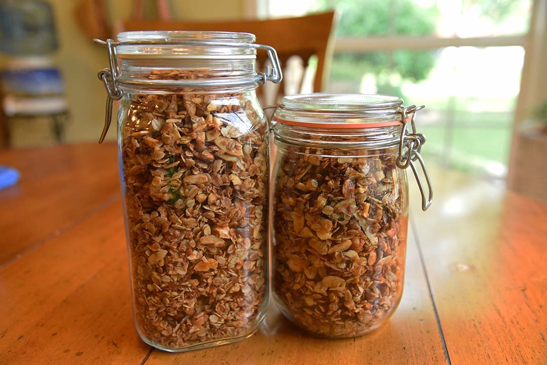 Tara's Homemade Granola - store granola in air tight containers