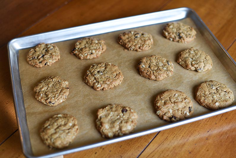2018-08-18 Oatmeal Raisin Cookies Made With Heart Healthy Walnut Butter - baked cookies