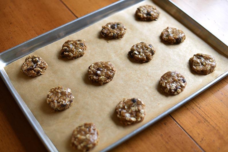 2018-08-18 Oatmeal Raisin Cookies Made With Heart Healthy Walnut Butter - smash dough