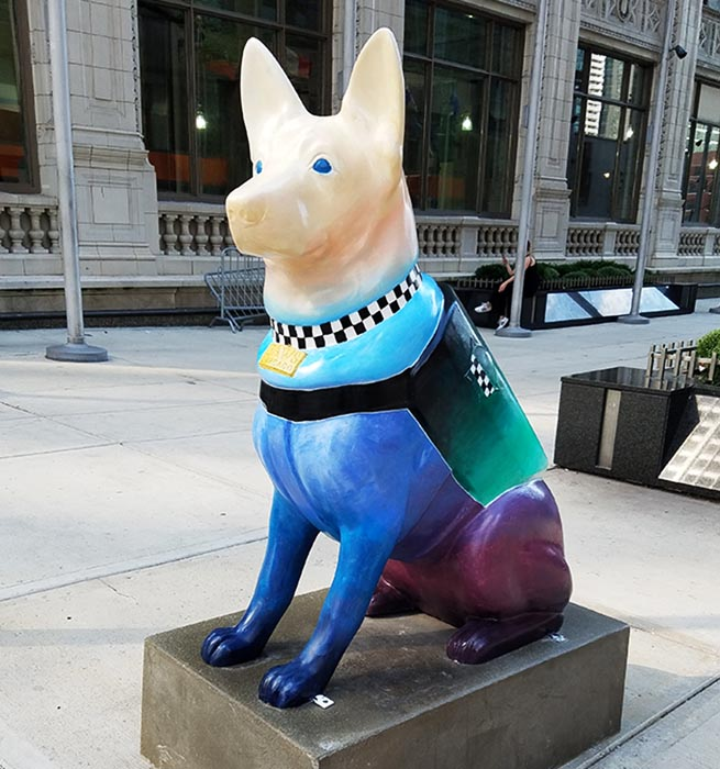 2017-09-30 Dog Statues in Chicago - dog 10