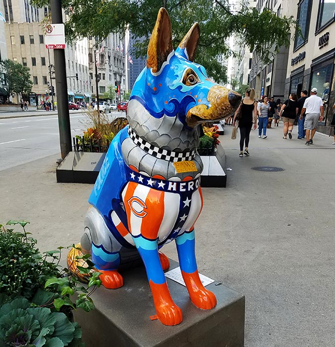 2017-09-30 Dog Statues in Chicago - dog 5