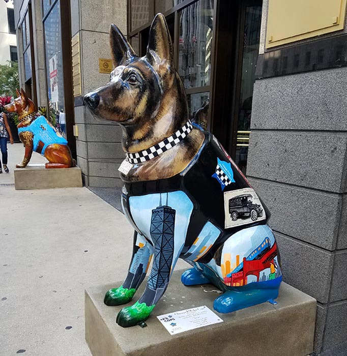 2017-09-30 Dog Statues in Chicago - dog 6
