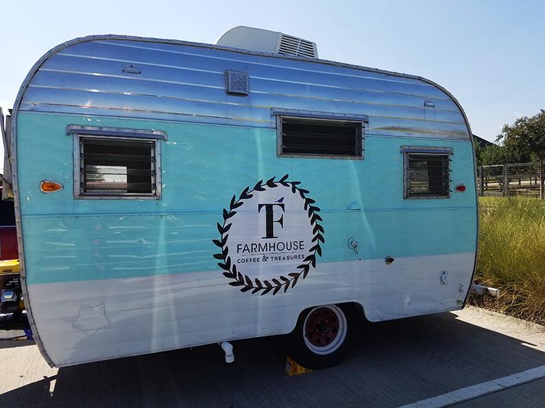 2017-10-18 Morning Coffee at Farmhouse Coffee & Treasures - the coffee trailer
