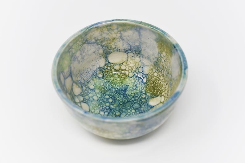 Bubble Bowl - blue & green